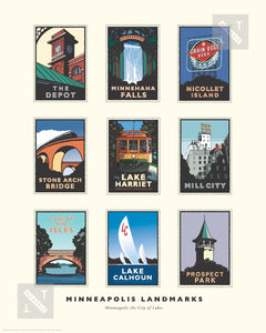 Minneapolis Landmarks Collection - Print