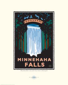 Minnehaha Falls - Landmark Series Card