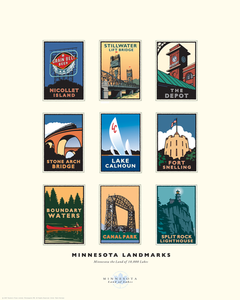 Minnesota Landmarks Collection - Print