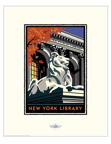 NY Public Library - Landmark Series New York Print