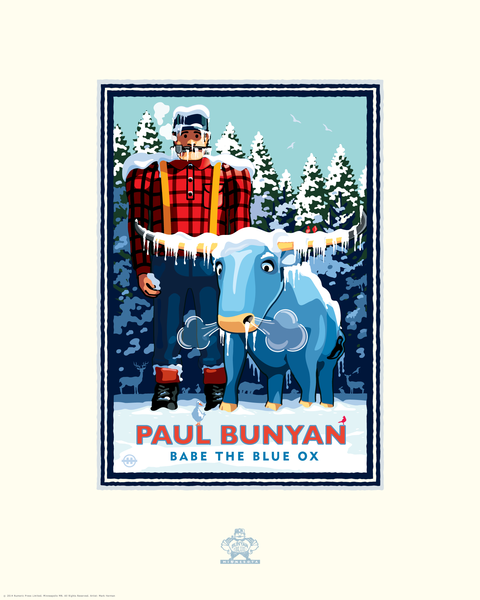 Paul Bunyan Winter - Landmark Series Card