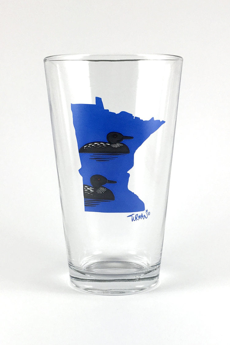 MN Loon Pint Glass