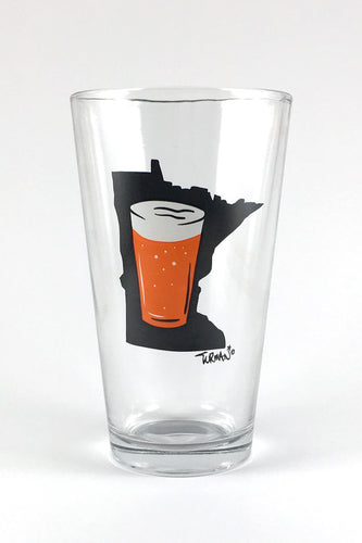 MN Beer Pint Glass