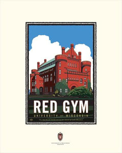 "UW-Madison Badgers ""Red Gym"" - Landmark University Series Print"