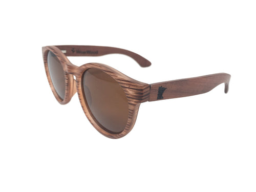 Wearwood MN Rosewood Round Sunglasses