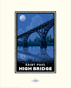 Saint Paul High Bridge - Landmark Series Card