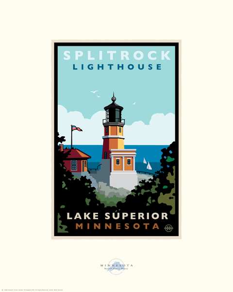 Split Rock Lighthouse Lakeview Day North Shore - Landmark Series Card