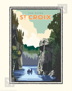 St. Croix River - Landmark Series Print