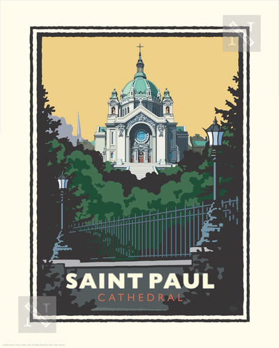 Saint Paul Cathedral - Landmark Series Print