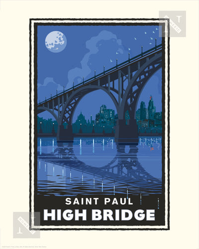 Saint Paul High Bridge - Landmark Series Print