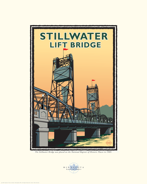 Stillwater Lift Bridge Day - Landmark Series Card