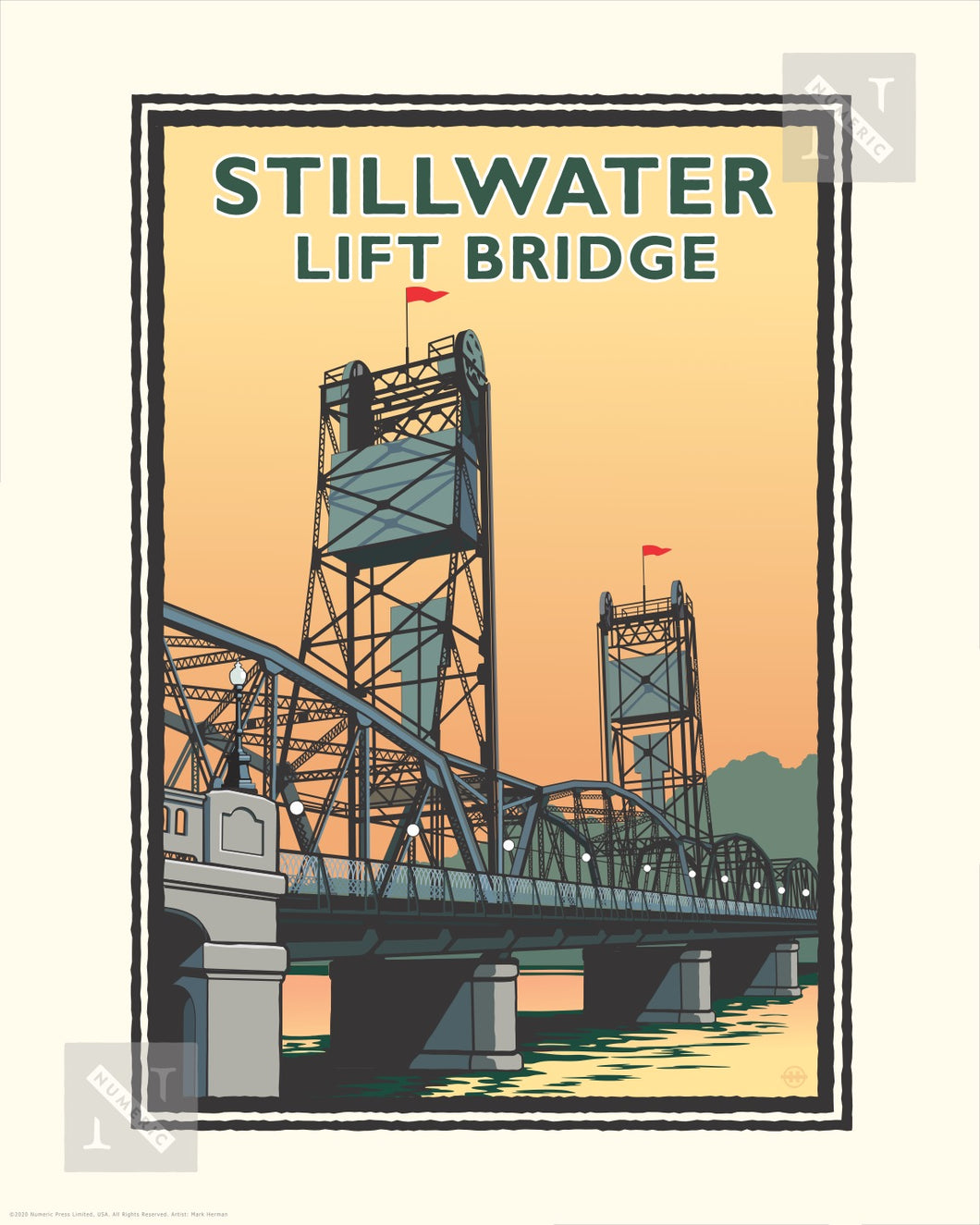 Stillwater Lift Bridge Day - Landmark Series Print