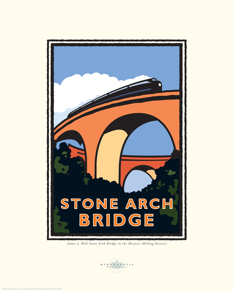 Stone Arch Bridge - Landmark Series Card