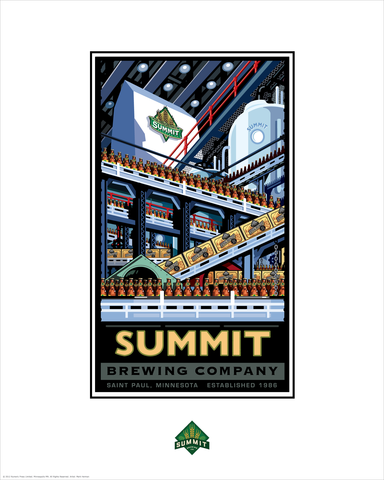 Summit Brewing Company Bottling - Landmark Series Card