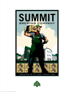 Summit Brewing Company Man - Landmark Series Card
