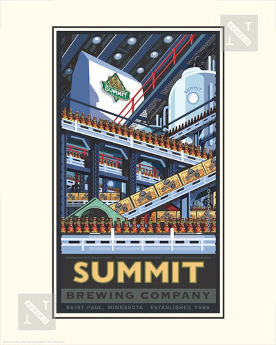 Summit Brewing Company Bottling - Landmark Series Print