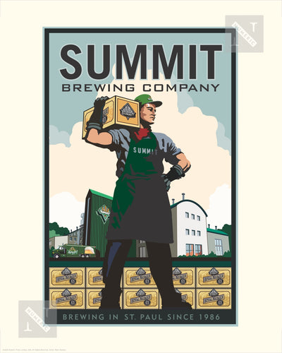 Summit Brewing Company Man - Landmark Series Print