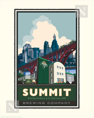 Summit Brewing Company Highbridge - Landmark Series Print