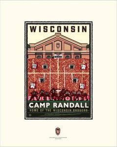 "UW-Madison Badgers ""Camp Randall On Field"" - Landmark University Series Card"