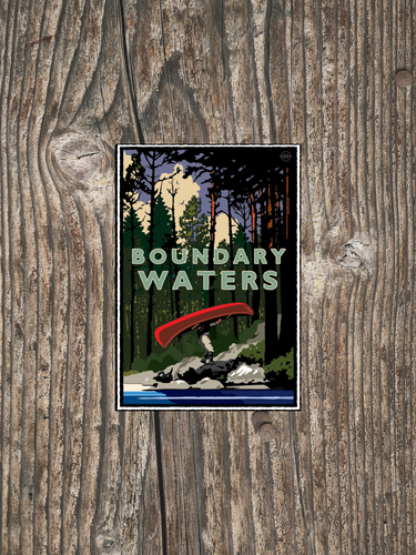Boundary Waters Portage - Landmark Series Sticker