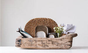 Found Decorative Wood Trug