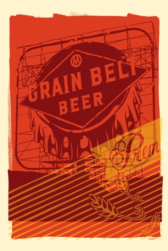 Grain Belt Beer Postcard