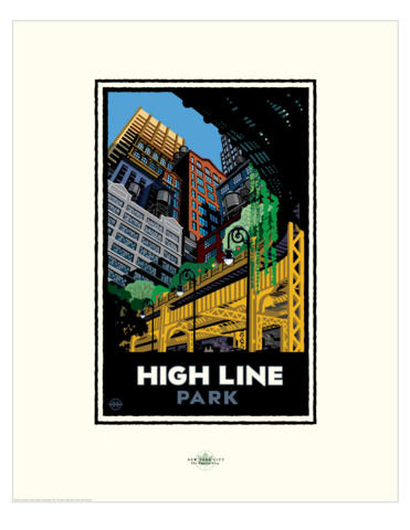 High Line Park - Landmark Series New York Print