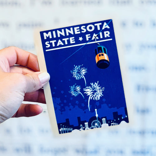 Minnesota State Fair Wood Postcard