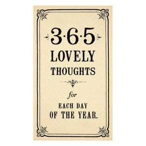 365 Lovely Thoughts Calendar Pad