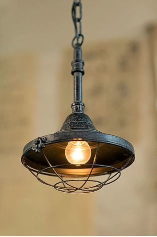 Small Iron Factory Pendant Lamp