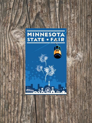State Fair Blue - Landmark Series Sticker