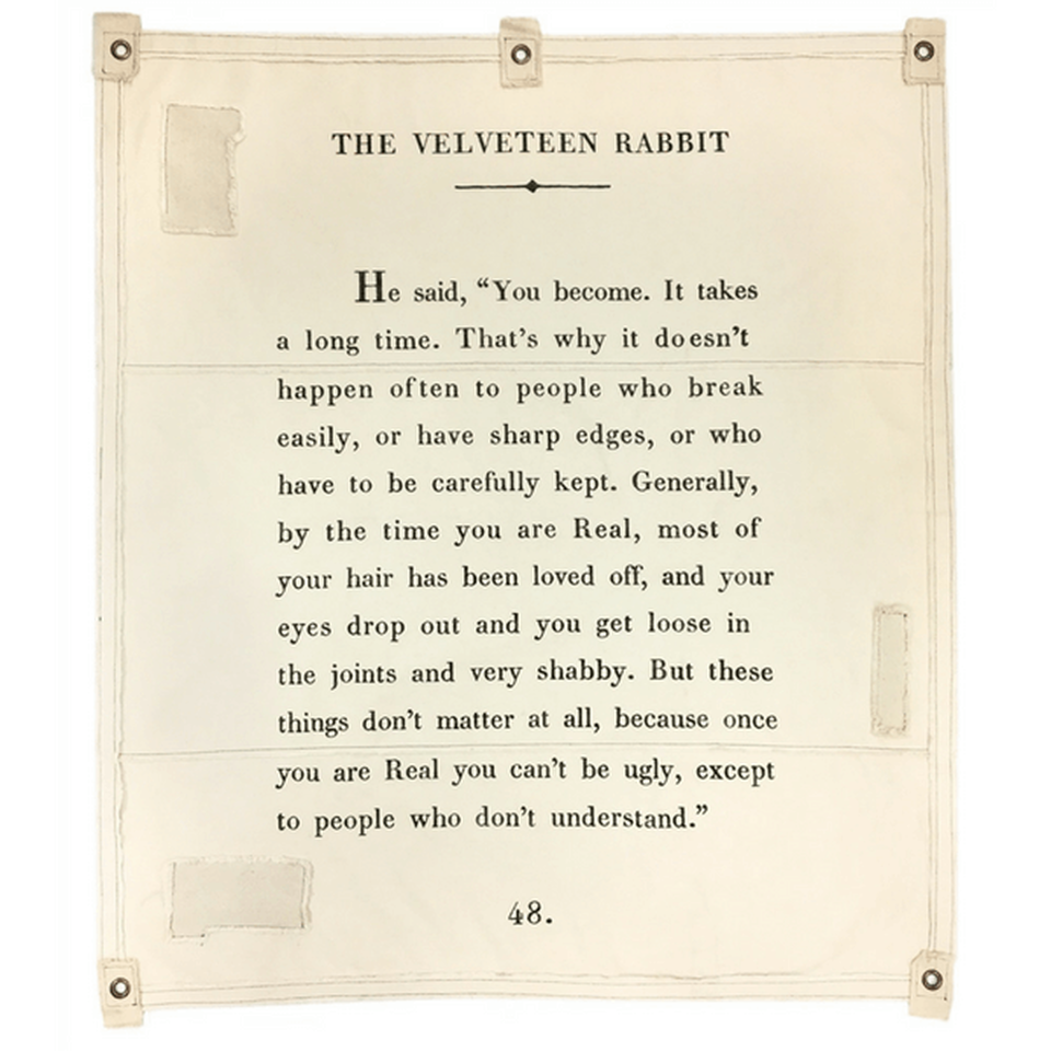 Velveteen Rabbit Inspirational Tarp