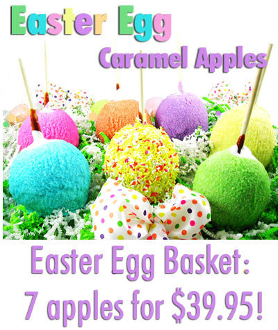**Best Seller** - Easter Egg Caramel Apples Basket