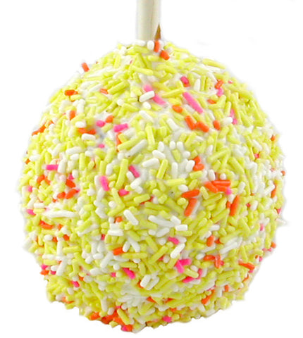 Easter Sprinkle Caramel Apple