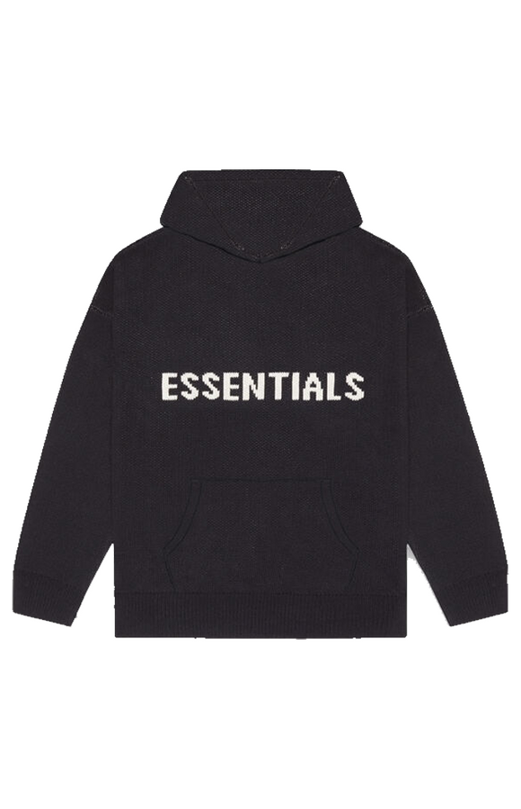 Fear Of God Essentials Black Knit Sweater