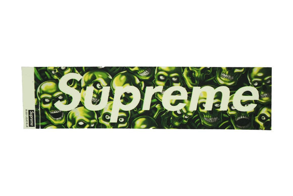 Supreme Glow in the Dark Skull Box Logo Sticker