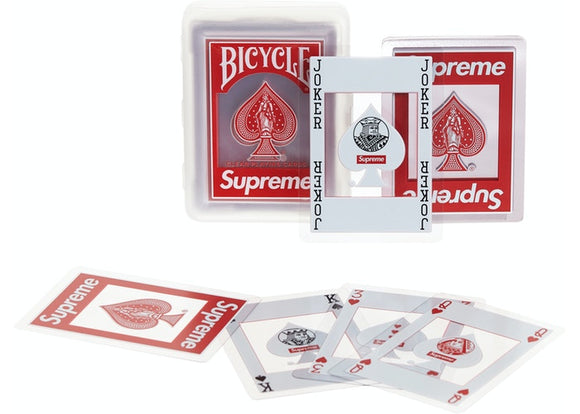 Supreme®/Bicycle® Clear Playing Cards