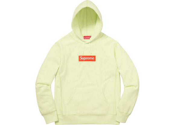 Supreme Yellow Box Logo Hooded Sweatshirt