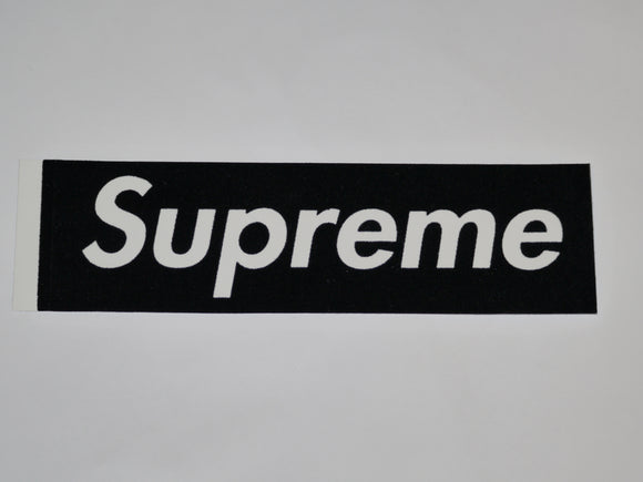 Supreme Black Felt Box Logo Sticker