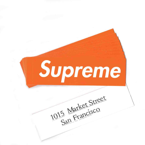 Supreme SF Box Logo Sticker
