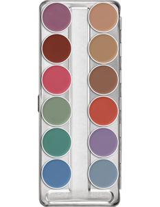 Kryolan Aquacolor Palette 12 Colours 01104/00
