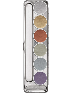 Kryolan Aquacolor Metallic Palette 6 Colours