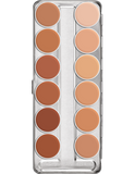 Kryolan Rubber Mask Grease Palette 12 Col 02584