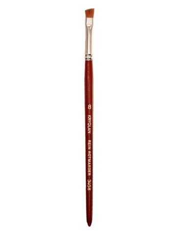 Kryolan EXCELLENCE ANGULAR BRUSH 8 03408-00