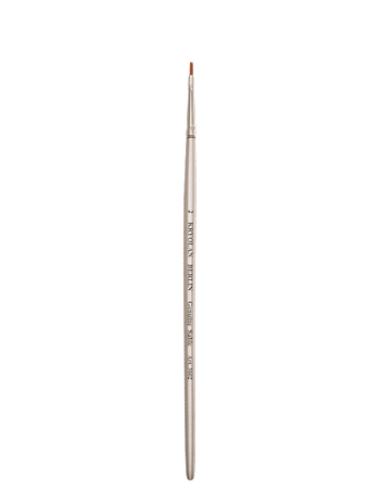 Kryolan Flat No. 2 brush, silver 03602-00