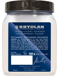Kryolan Translucent Powder 500g 05704-00