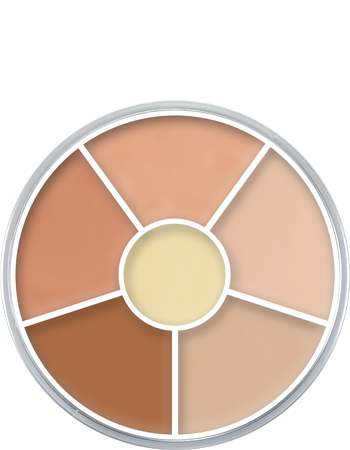 Kryolan Ultra Foundation Wheel 6 Cols 09016-00