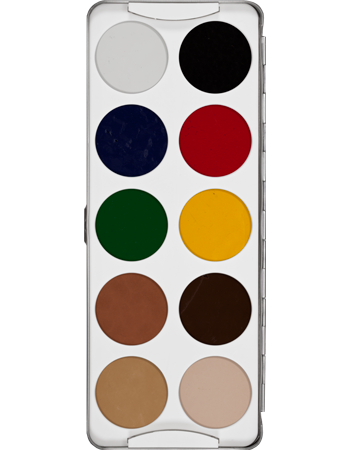 Kryolan Body Illustration Palette 10 col 08104-00