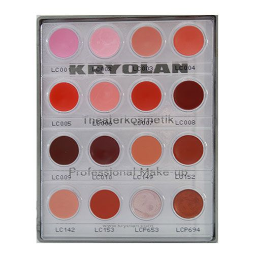 Kryolan Lip Rouge Mini Palette 16 colours 15ml