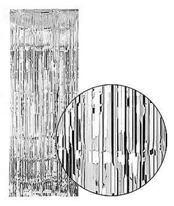 Backstage Shop - Silver Shimmer Curtain